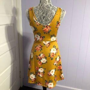 no comment Dresses - Mustard floral dress